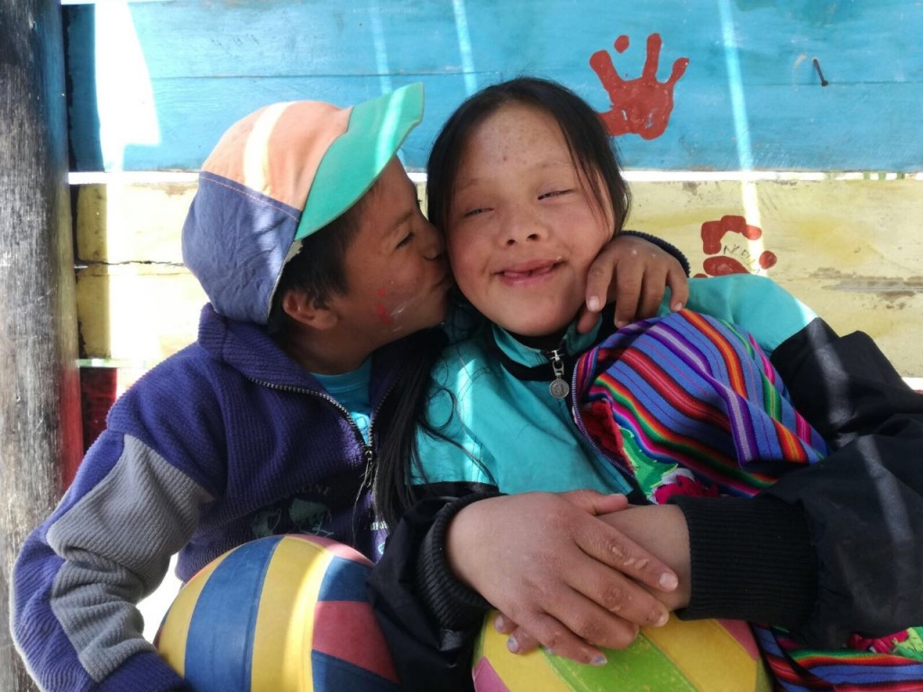 José-Abel and Maria, two children with Down Syndrome